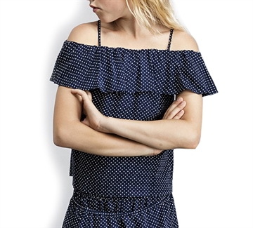 Little Remix Top Rion Ruffle Navy 13948