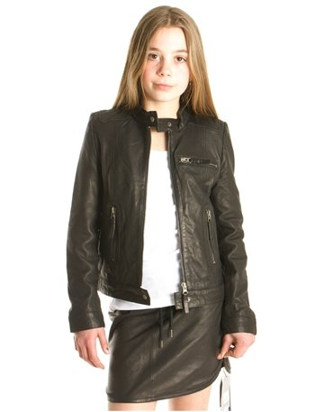 MDK  jacket black leather
