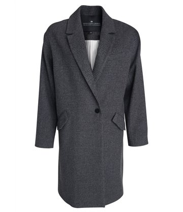 Little Remix Corey Coat Grey Black Check