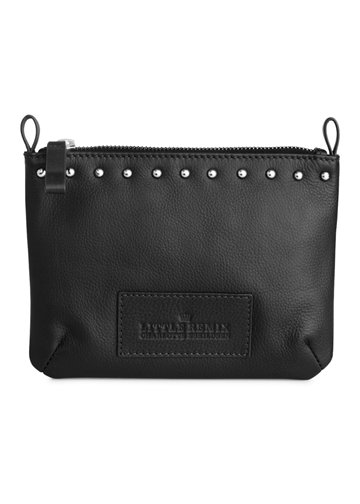 Little Remix Stud Pouch black leather