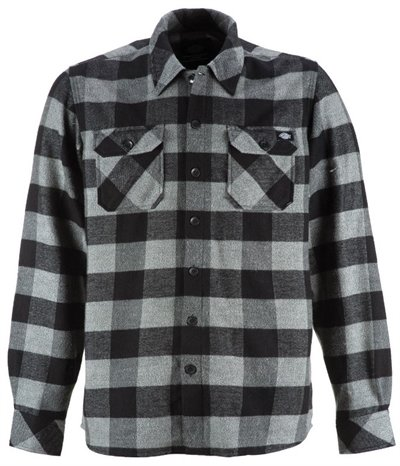 Dickies Shirt Sacramento Black/Grey
