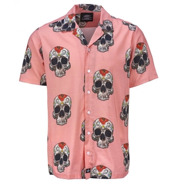 Dickies Skjorte Bloossvale Flamingo