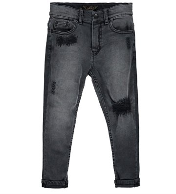 Finger in the Nose Emma Jeans Black Denim Repaired