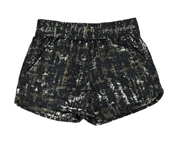 Finger in the Nose  shorts Holiday black lamé gold