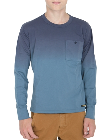 Finger in The Nose T-shirt L/S Nico Dip Dye Blue