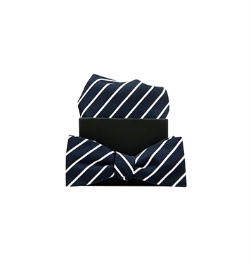 Formél Bow Tie Our Mél Stripe Blue / White