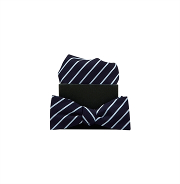 Formél Bow Tie Our Mél Stripe Navy / Light Blue
