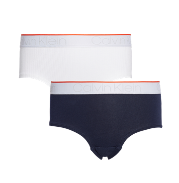 Calvin Klein Girls 2PK Shorty White/Blueshadow
