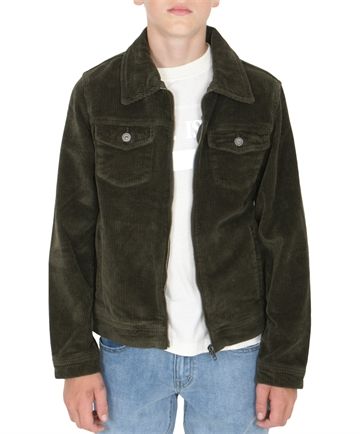 Grunt Boys Nato Corduroy Jacket Army Green