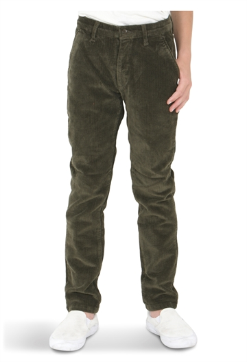 Grunt Boys Dude Corduroy Pants Army Green