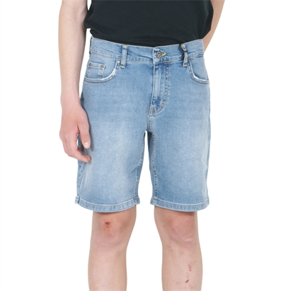 GRUNT Shorts Clint Denim Worn Blue