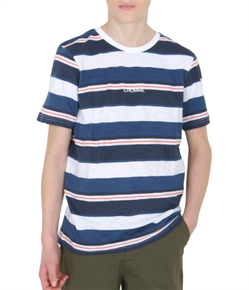 Grunt Boys T-shirt Gyve ss Wave Blue Stripe