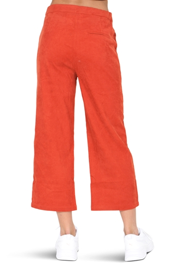 Grunt Girls Wide Leg Crop Corduroy Rusty