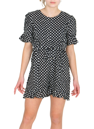 Grunt Short suit sallie Black White Dots