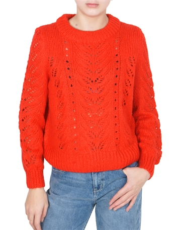 Grunt sweater Liva knit Light poppy red