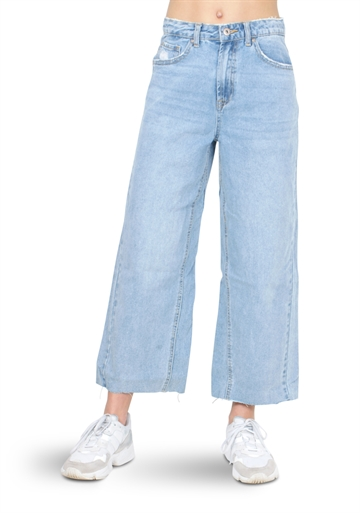 Grunt Jeans Wide Leg Crop mid Blue