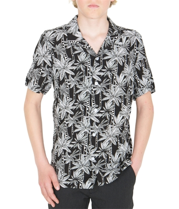 Grunt Boys Shirt Newlin Black