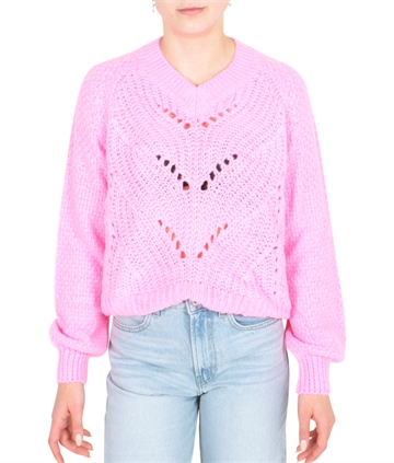 Grunt Girls Sweater Hedvig Knit Neon Pink