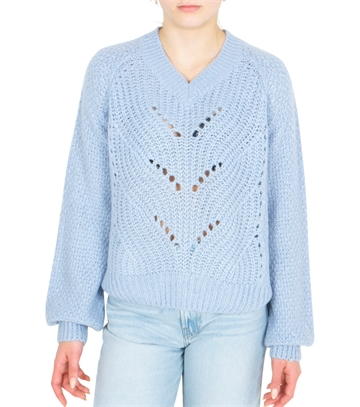 Grunt Girls Sweater Hedvig Knit  Baby Blue