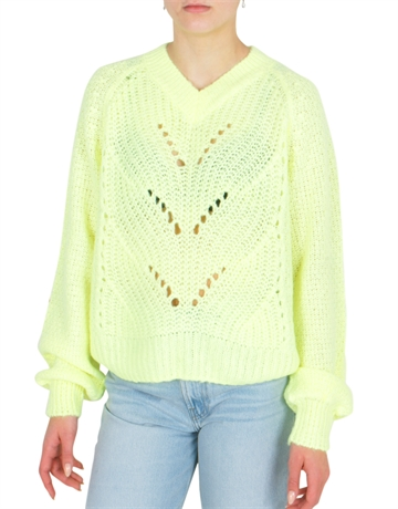 Grunt Girls Sweater Hedvig Knit Neon Yellow