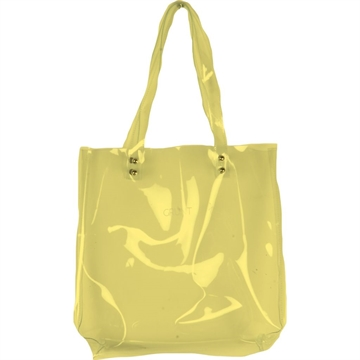 Shopper plastic yellow