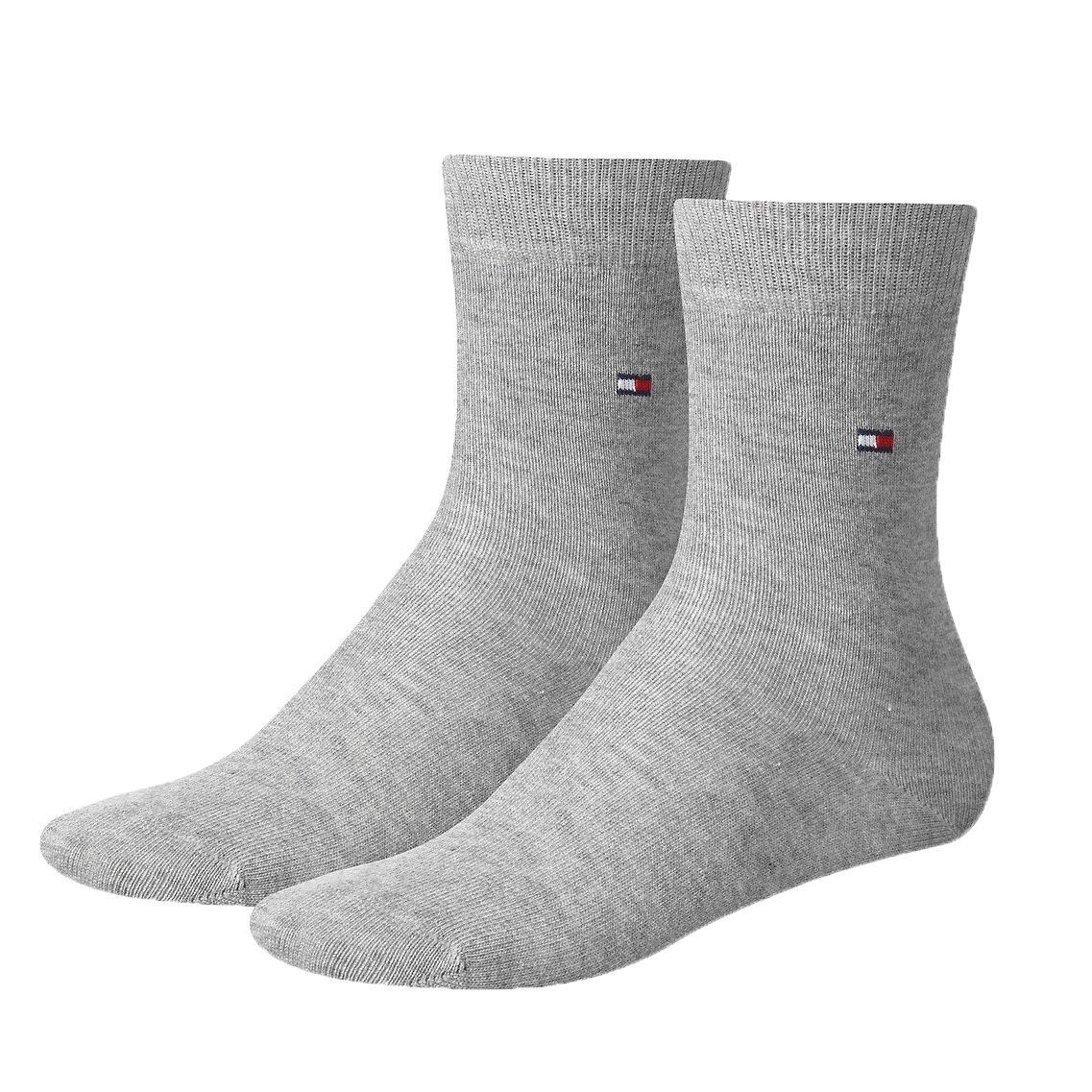 d4abfada6 Tommy Hilfiger classic socks mid grey 2-pak