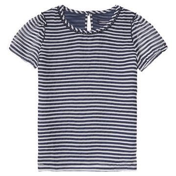 Hilfiger Junior Pige Top Chiffon navy stripe