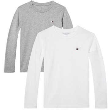 Tommy Hilfiger unisex Junior Tee l/s White/Grey 2-pack
