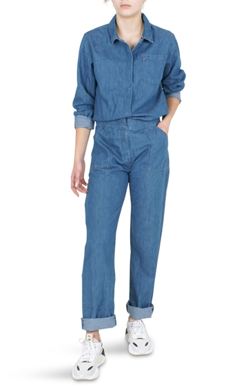 Tommy Hilfiger Girls Denim Overall Light Weight Mid Rigid