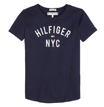 Tommy Hilfiger Girls Essential Print Tee s/s Black Iris