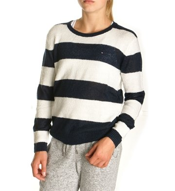Tommy Hilfiger Girls Sweater Fluffy Stripe 02940