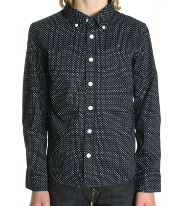 Tommy Hilfiger Boys Shirt Star mini print navy