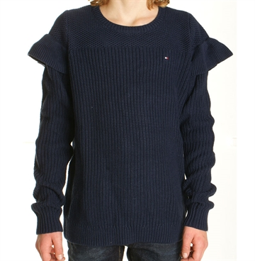 Tommy Hilfiger Girls Sweater Ruffle 03280