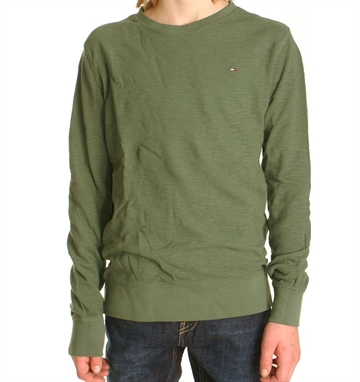 Tommy Hilfiger Tee Micro waffle Thyme 03629