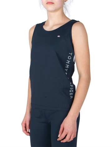 Tommy Hilfiger Girls Sport Singlet Navy Multi