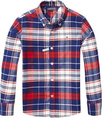 Tommy Hilfiger Boys Shirt Check Bl.Iris