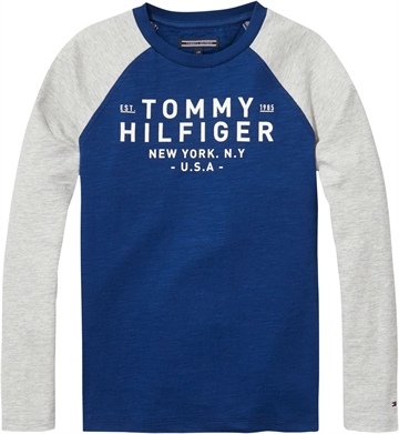 Tommy Hilfiger Boys Tee l/s Estate Blue 03424