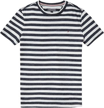 Tommy Hilfiger Boys Tee Stripe Snow white 03426
