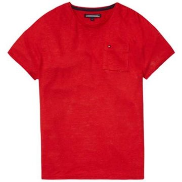 Hilfiger Girls Tee Pocket Mars Red