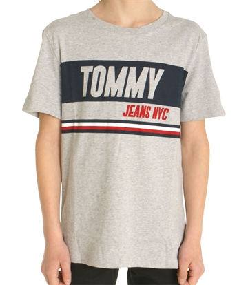Hilfiger Boys T-shirt Sporty Block 03920 Grey Melange