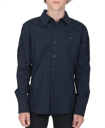 Tommy Hilfiger Boys Poplin Shirt Midnight