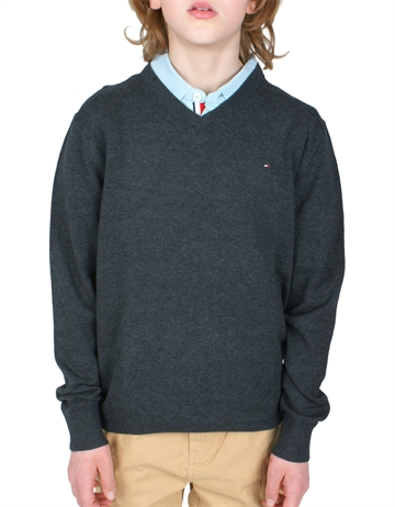 Hilfiger Boys Sweater V-Neck 03900 064 dark grey