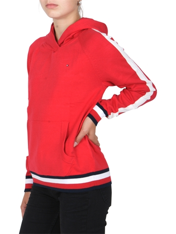 Hilfiger Girls Hoodie  Global Stripe 03846 True Red