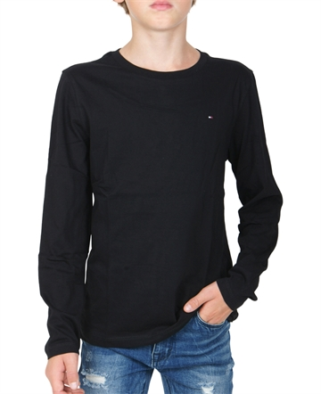 Hilfiger Basic unisex l/s t-shirt sort med mini logo