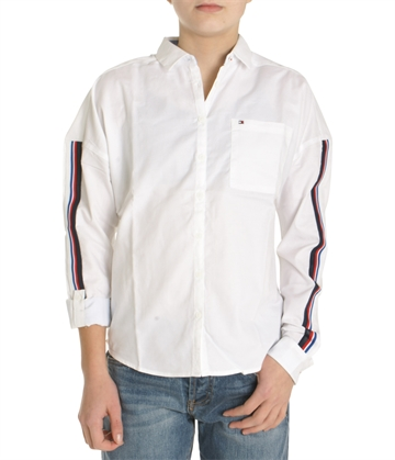 Hilfiger Girls Shirt 03534 123 White w. tape logo
