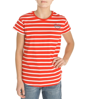 Hilfiger Girls Top Striped Flame Scarlet 03382 610