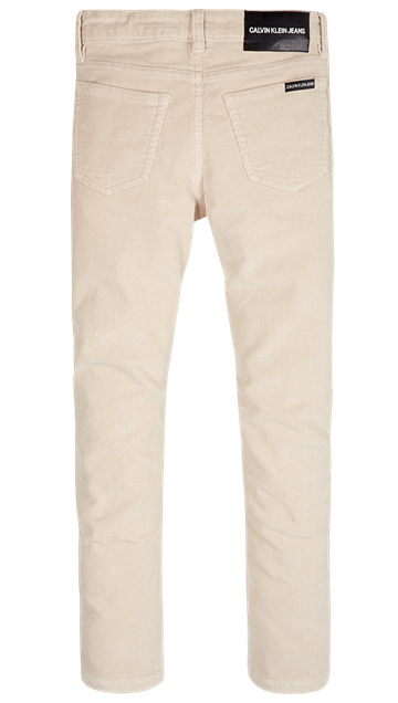 Calvin Klein Boys Corduroy Pocket Jeans Whitecap Grey