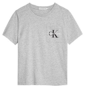 Calvin Klein T-shirt Monogram Pocket 00457 pz2 Light Grey Heather