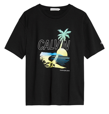 Calvin Klein Boys Palm Graphic Tee 0486 Black