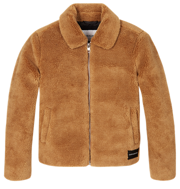 Calvin Klein Girls Teddy Jacket Cashew